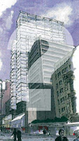 Old rendering of a proposal for 16-42 Willis St
