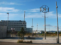 Wind turbine at Waitangi Park