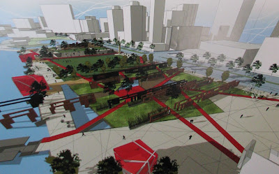 Frank Kitts Park redesign - Option E - from the north