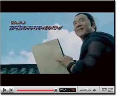 Bajaj discover DTSi TV Ad Featuring Jackie Chan