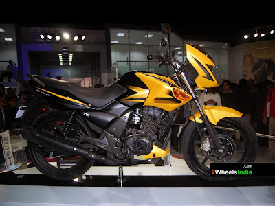 Yellow 125 cc TVS Flame