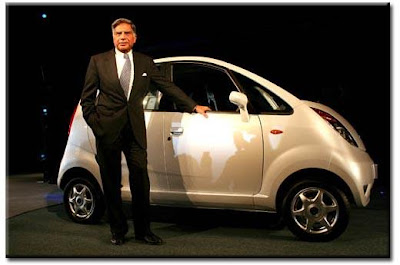 Mr. Ratan Tata with the Tata Nano