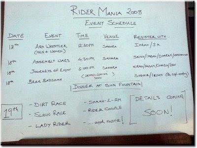 Events @ Rider Mania 2008