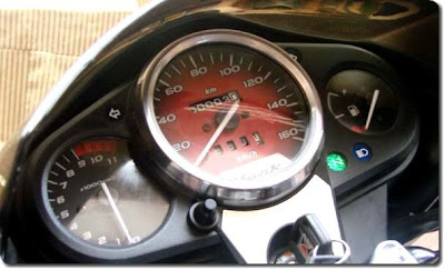 Speedometer console of 150 cc Hero Honda Hunk