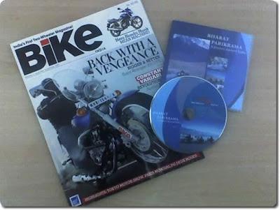 Bharat Parikrama DVD along with Nov 07 issue of Bike India Magazine