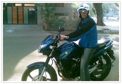 Nikhil on his GS150R