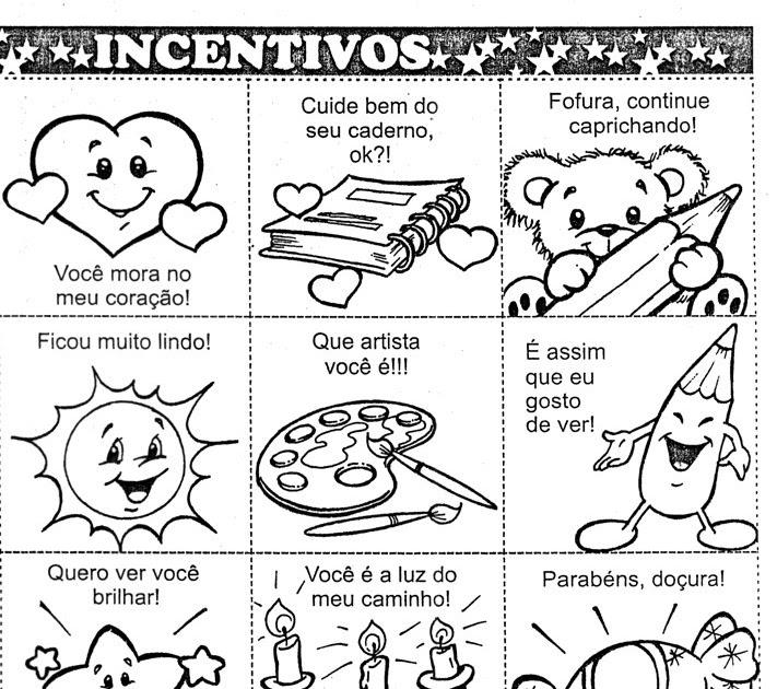 Incentivos Para Cadernos De Alunos Atividades Para Colorir