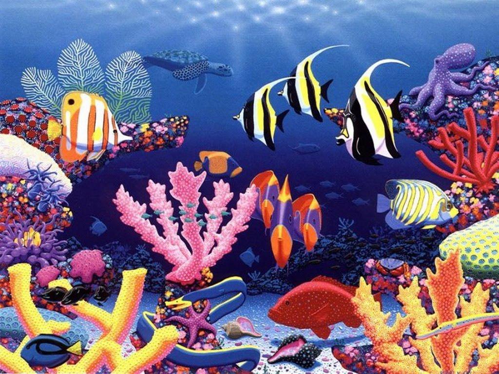 Pedido Da Gisela  Imagens Do Fundo Do Mar Para Decoupage  Beijos