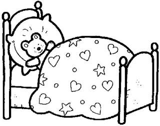 cama 734060 Regras e rotina para colorir para crianças