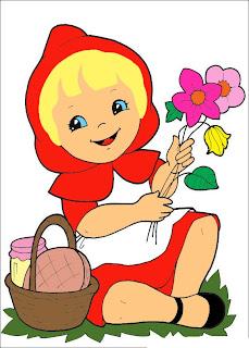 Desenhos da Chapeuzinho Vermelho para Colorir