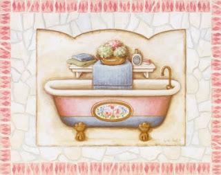 decoupage de banheiro
