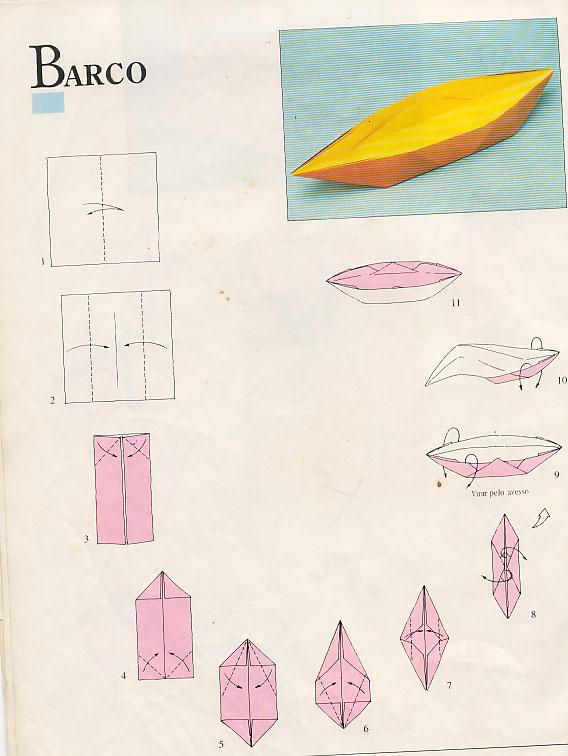 Como fazer origami - Barco