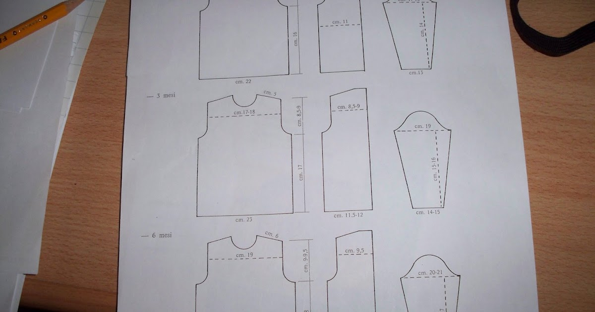 spesso Il mio mondo di lana e..: Misure per neonati CP74