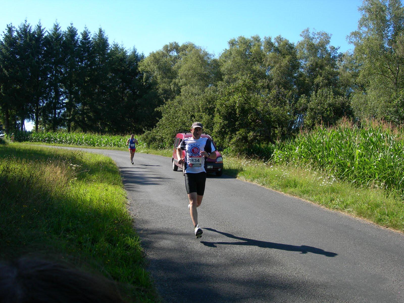 course a pied grosse chaleur