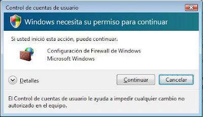 escudo de Control de cuentas de usuario para operaciones de Windows