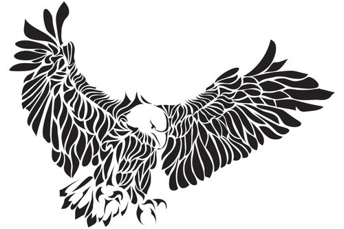... Eagle tattoo Design, Floral Eagle tattoo free, Creative Eagle tattoo