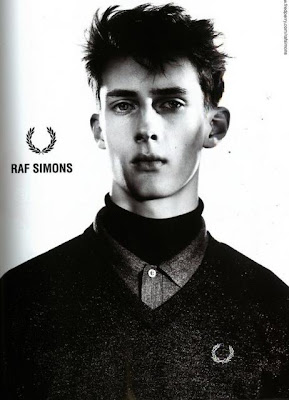 raf simons for fred perry ad