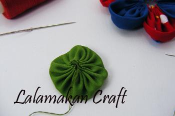 Tutorial Membuat Bunga Kain untuk Aplikasi Baju