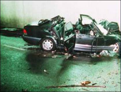 princess diana crash. princess diana crash photos.
