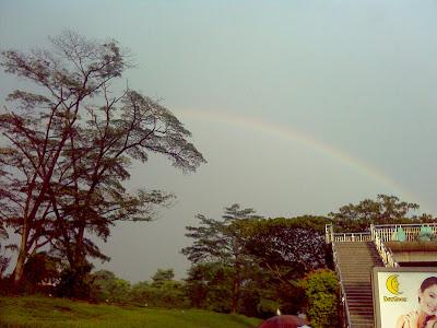Sunny Showers With A Rainbow