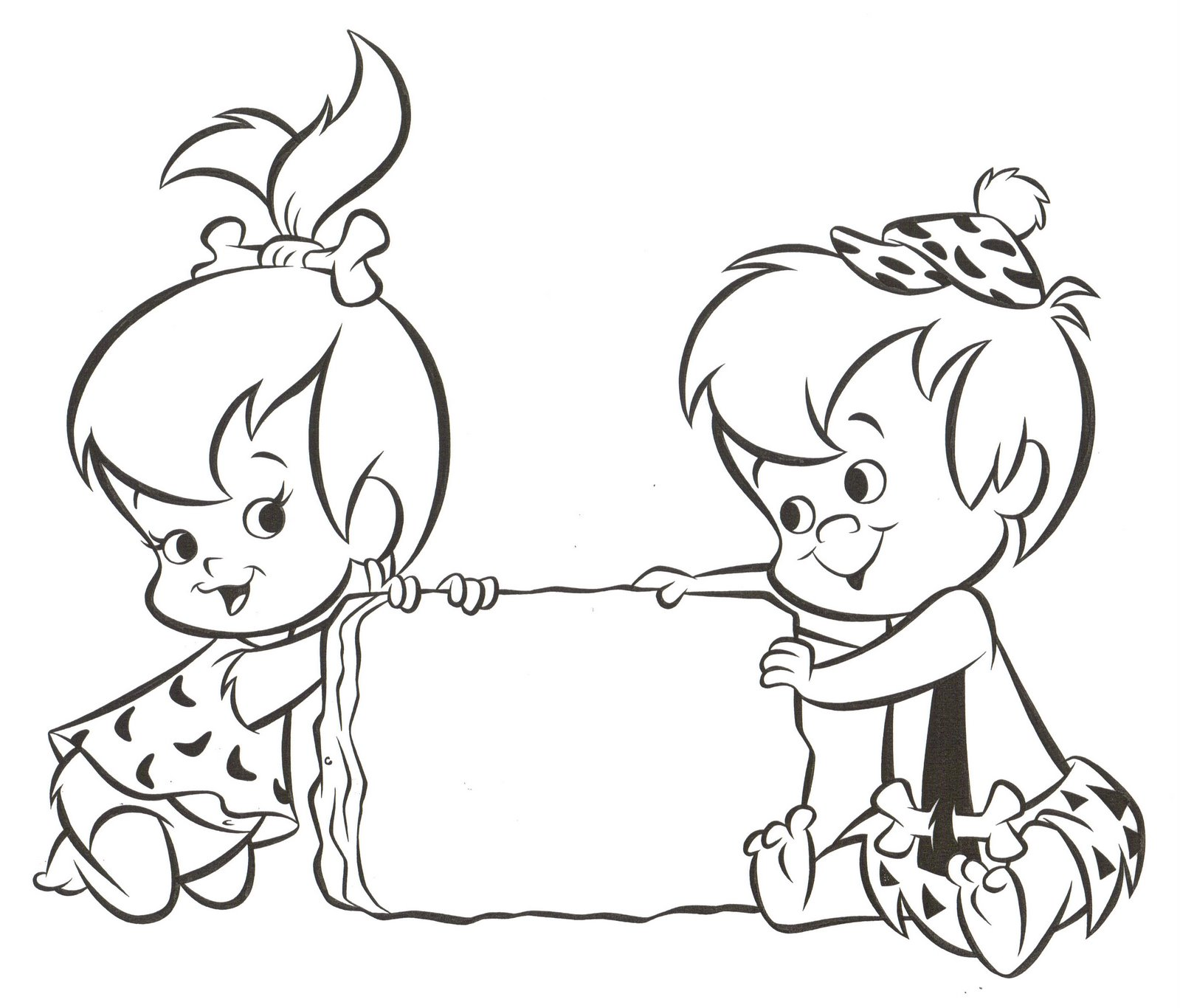 pebbles and bambam coloring pages - photo#2