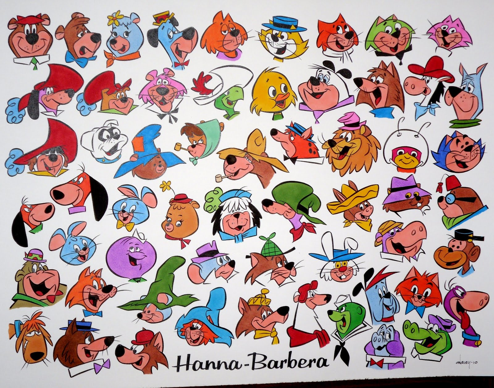 Hanna barbera tv stars in color special offer