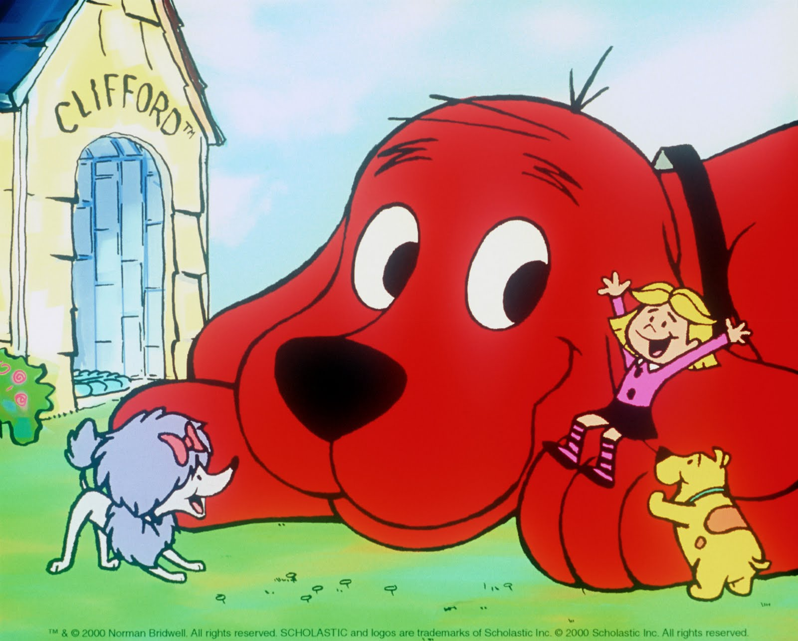 Clifford the Big Red Dog 7 Book Set Hospital, Christmas, Thanksgiving, Small ++