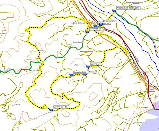 Mapa de la ruta Xocainet