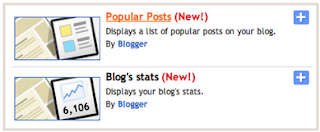 Gadget Popular Post dan Statistik dari Blogger