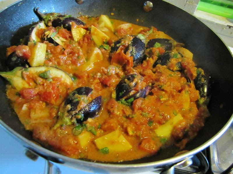 Albion cooks indian eggplant with spicy tomato sauce indian eggplant with spicy tomato sauce forumfinder Choice Image