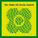 "The ""You make me smile"" award"