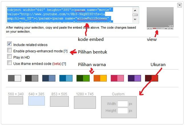 Jika sudah diatur sedemikian rupa, lalu copy embed code yang tersedia.