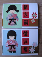 Kort med japanske dukker