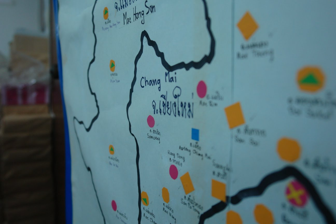 map of hiv aids groups in northern thailand