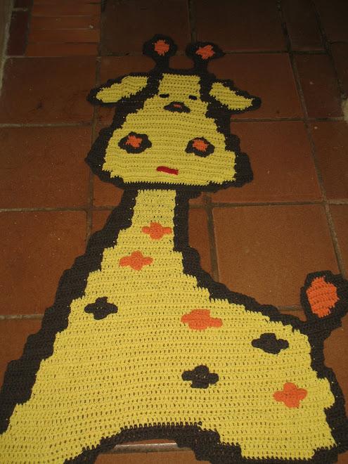 Tapete Girafa de Crochê...