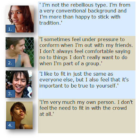 the rebellious 20s vs the conformist