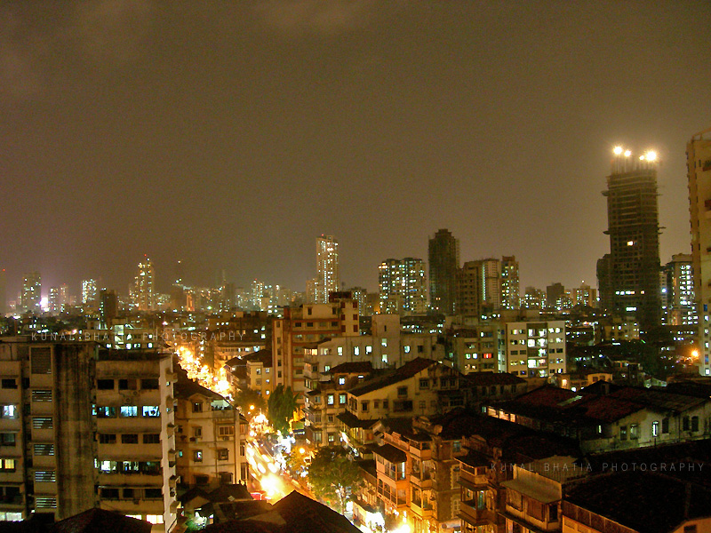 mumbai skyline by night by kunal bhatia
