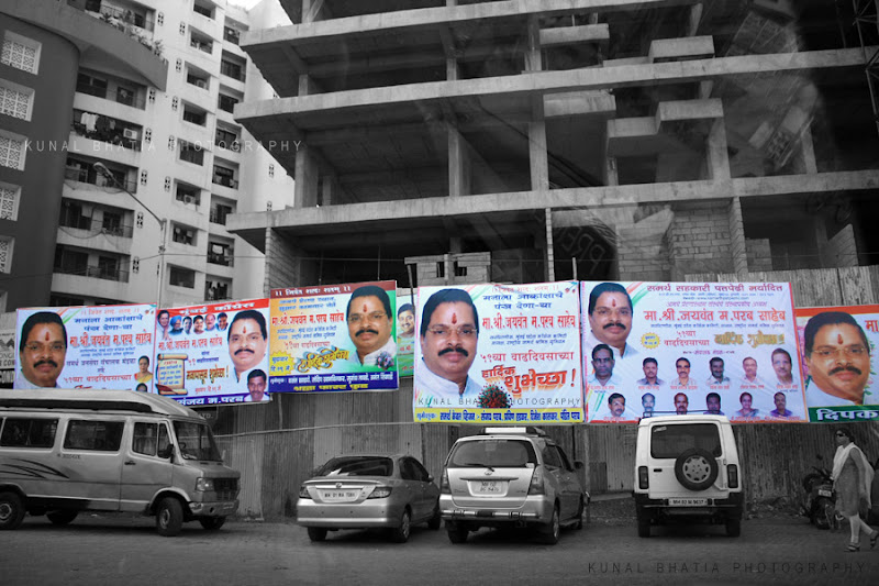 political hoardings in mumbai by kunal bhatia