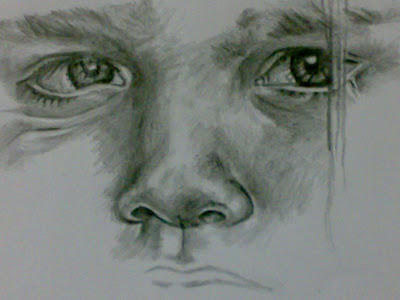 The Making Of A Potraiture - Sketching - Lesson I - How to draw - Learn to draw -Draw in Detail - Art - Drawing Eyes - Nose - Hair - Mouth - How to draw human face