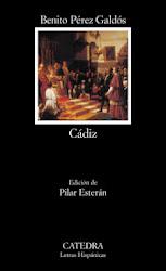 "Libro lectura Obligatoria para el primer trimestre: ""Cádiz"", de Benito Pérez Galdós."