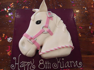 CAKES and COOKIES HORSE HEAD BIRTHDAY CAKE