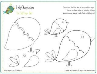 BIRD APPLIQUE PATTERNS « Free Patterns