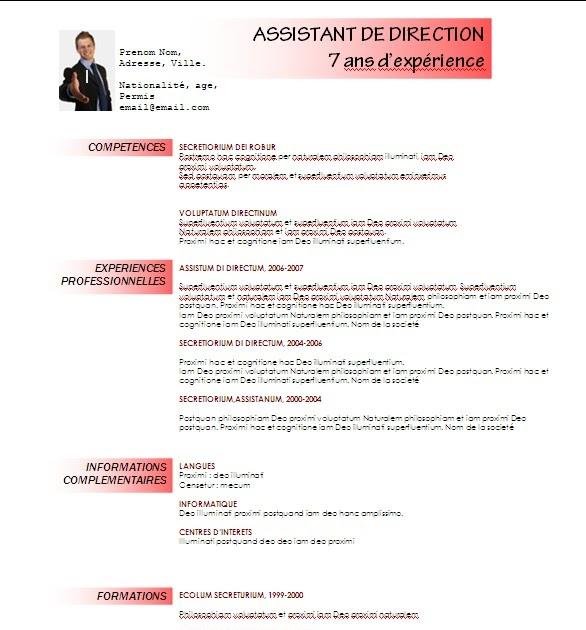 modele curriculum vitae lettre de motivation gratuit  t u00e9l u00e9charger modele cv 03