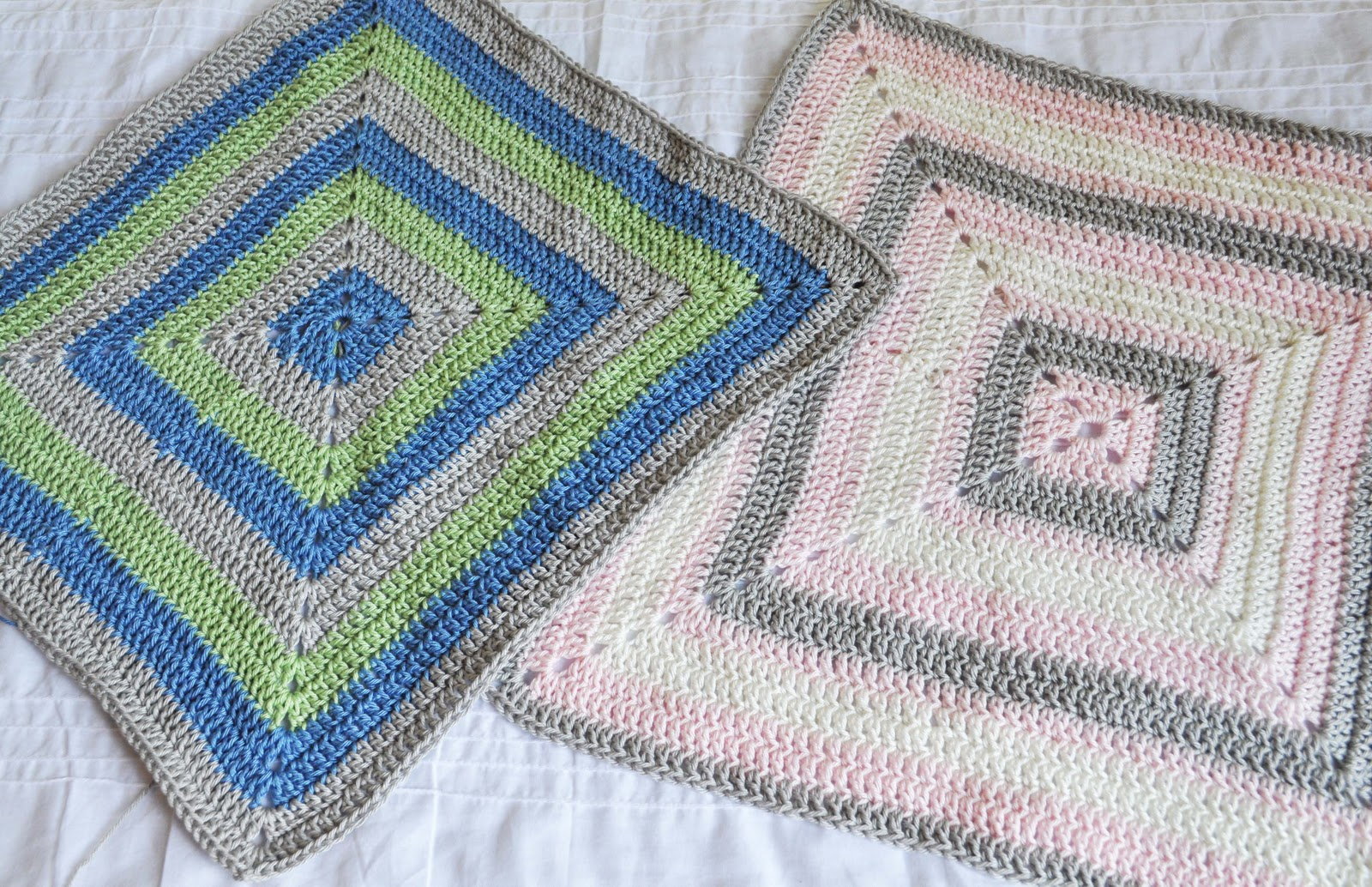 The Handmade Dress: Filled in Granny Square Baby Blanket Tutorial