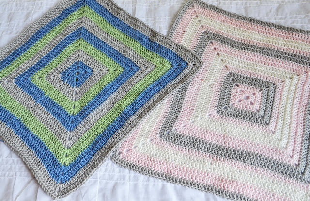 Easy Crochet Granny Square Baby Blanket Pattern : The Handmade Dress: Filled in Granny Square Baby Blanket ...