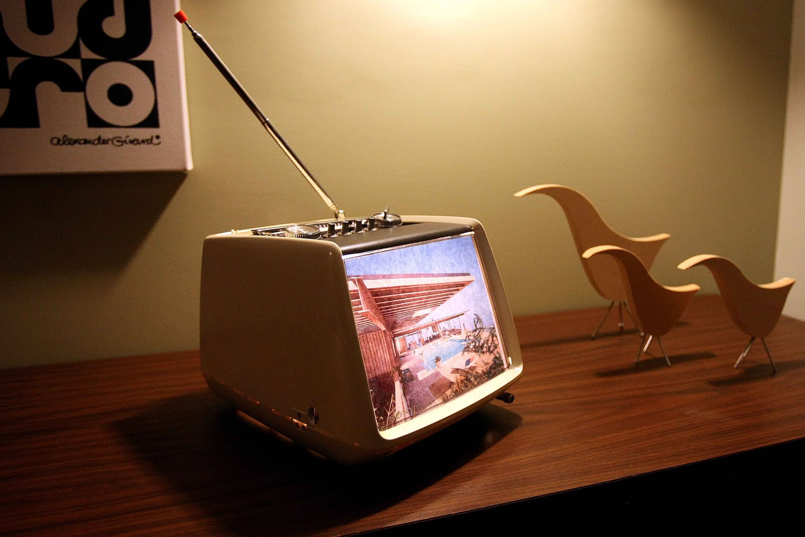 Mid Century Modern Atomic Indy Upcycled Vintage Tv