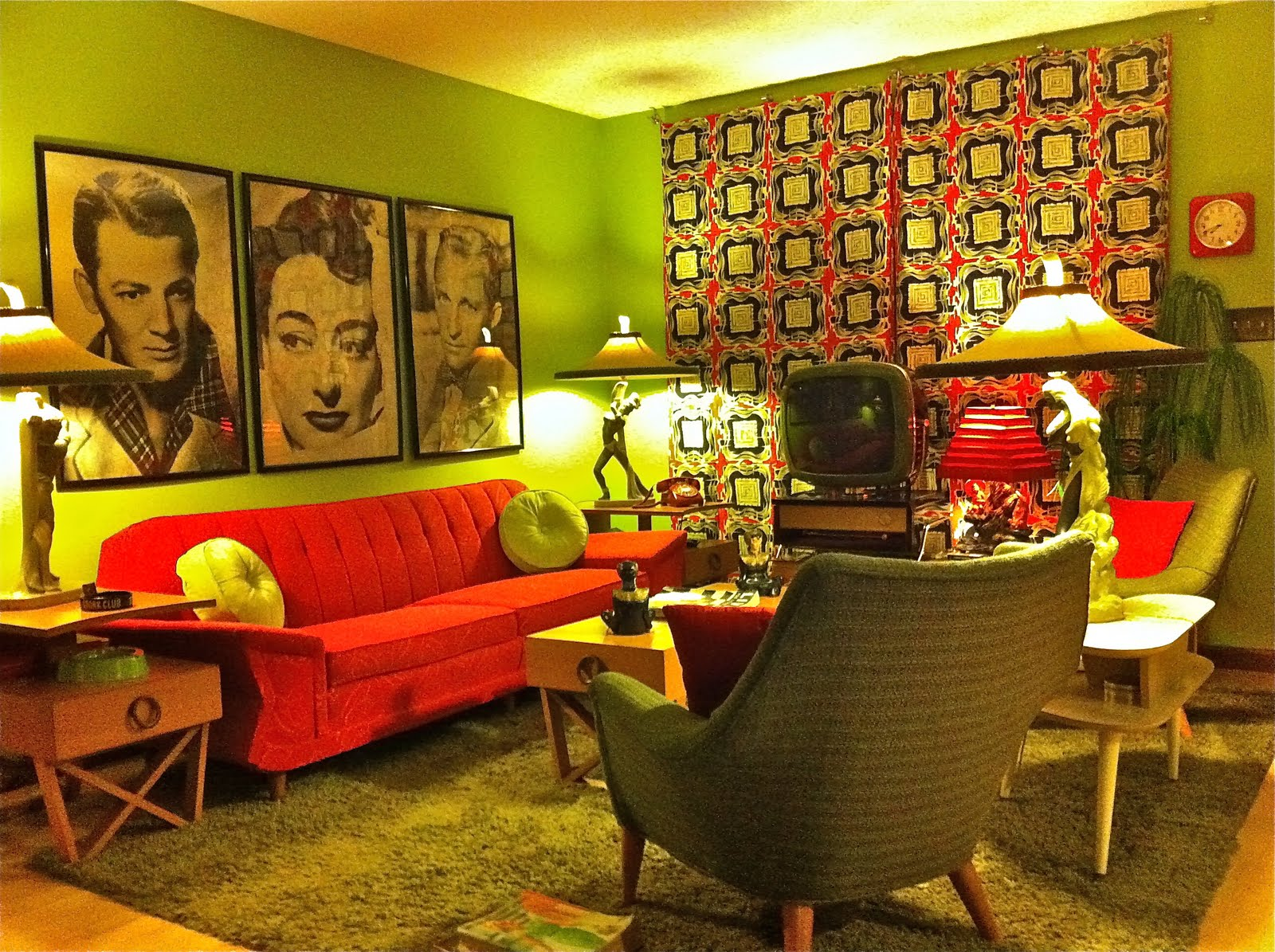 Mid century modern atomic indy mid century modern kitsch for Modern retro living room ideas