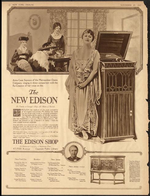 1917 Ad featuring Anna Case.