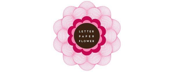 Letter Paper Flower