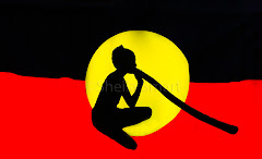Aboriginal flag abstract